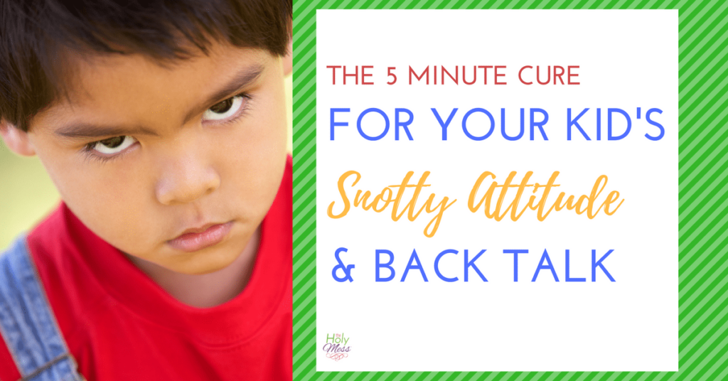 The 5 Minute Cure for Your Kid's Snotty Attitude and Back Talk|The Holy Mess