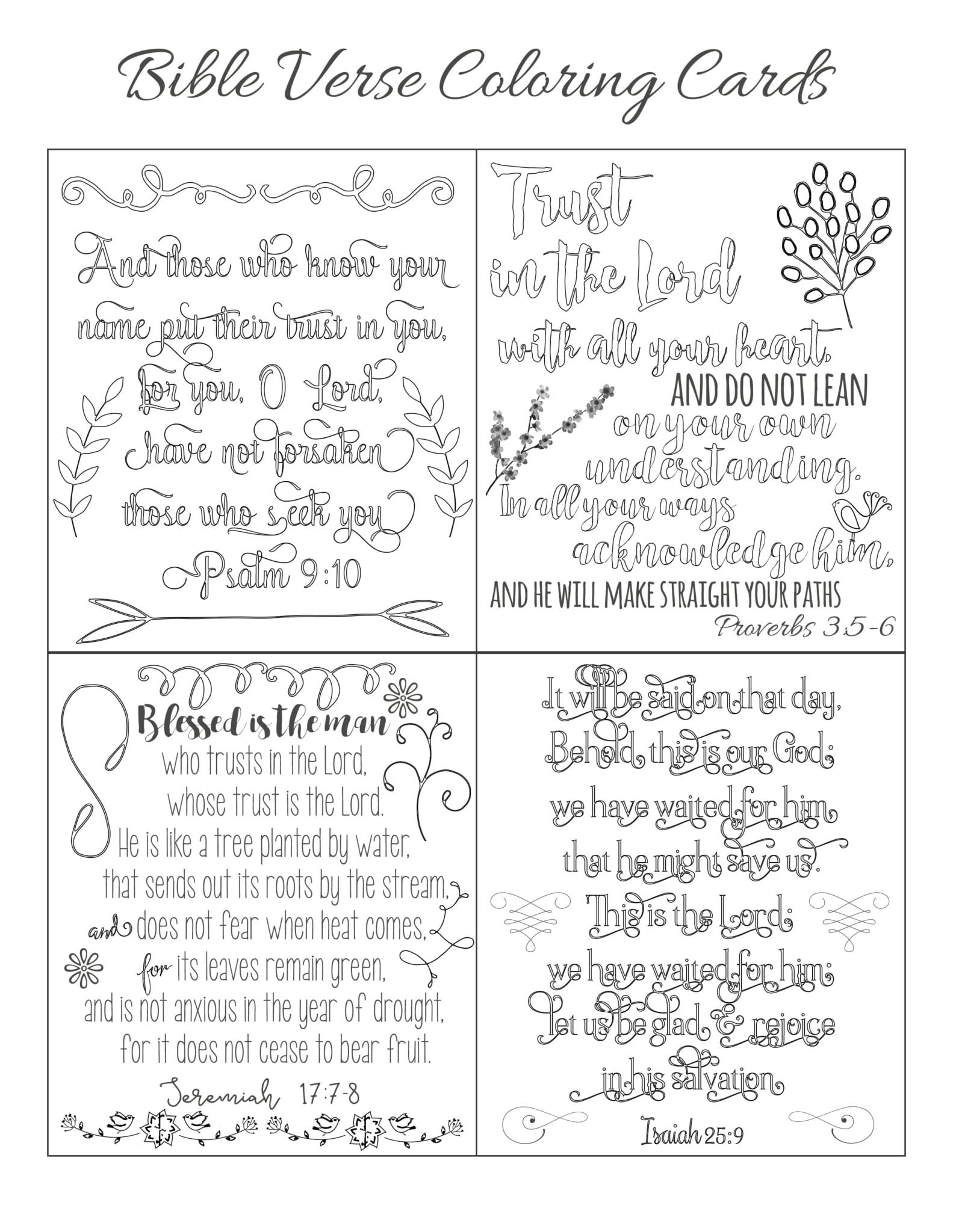 Bible Verse Notecards|The Holy Mess