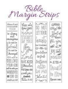 Journaling kit margin strips
