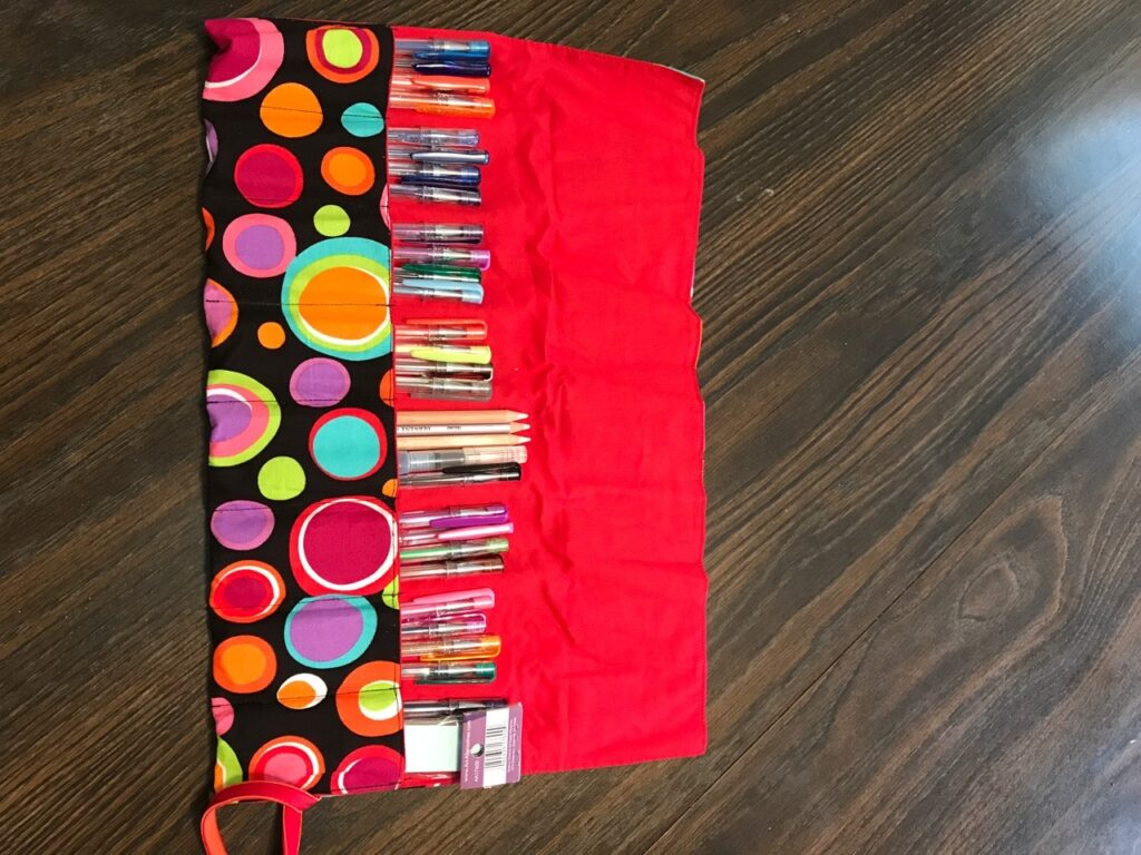 Roll up pencil cases