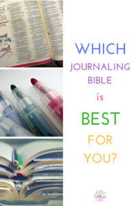 Which Journaling Bible is best for you? #biblejournaling #illustratedfaith