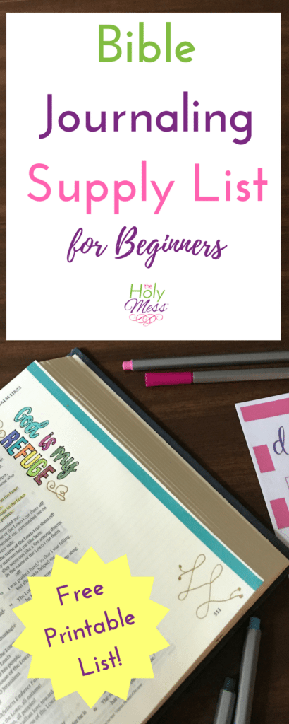 Bible Journaling Supply List for Beginners The Holy Mess