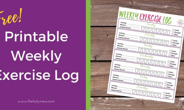 Printable Weekly Exercise Log