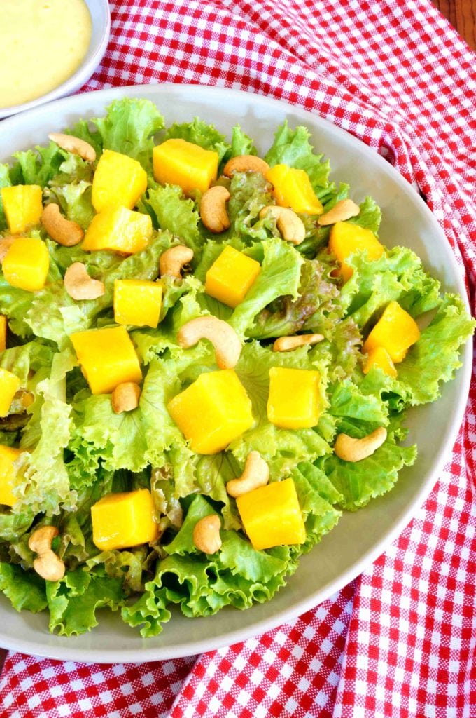 Mango Cashew Salad with Honey Yogurt Dressing|The Holy Mess