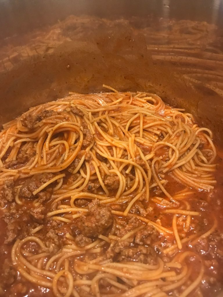 IP One Pot Spaghetti