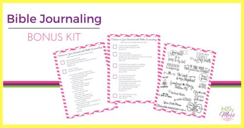 Bible Journaling Bonus Kit