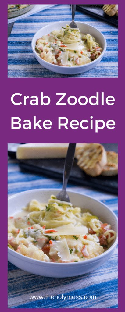 Crab Zoodle Bake