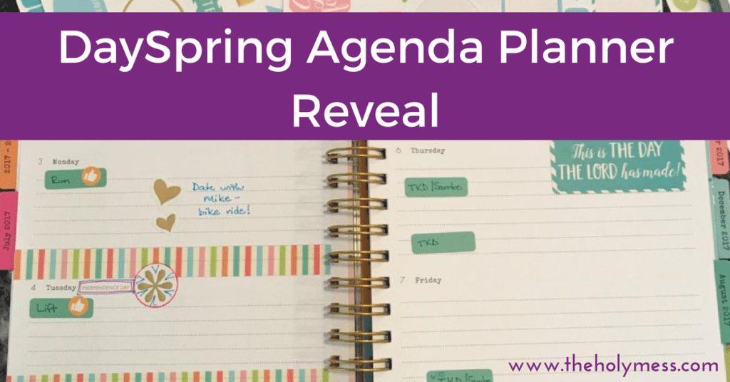 DaySpring Agenda Planner Reveal