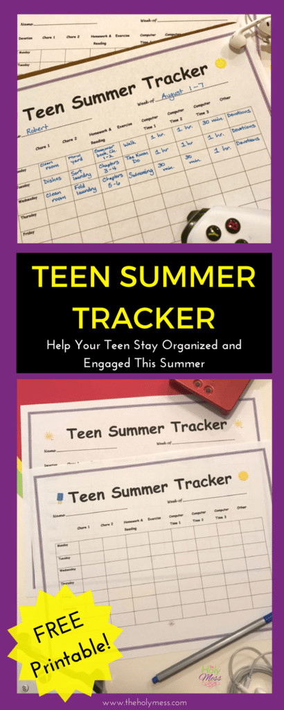 Teen Summer Tracker|The Holy Mess