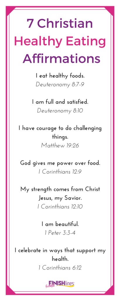 7 Christian Healthy Eating Affirmations