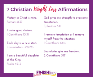 7 Christian Weight Loss Affirmations|The Holy Mess