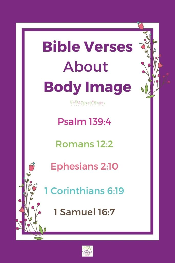 5 Bible verses about body image verse list for women