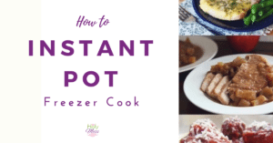 How to Instant Pot Freezer Cook|The Holy Mess
