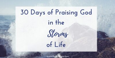 Praising God in the Storms of Life - picture of Storm with rocks