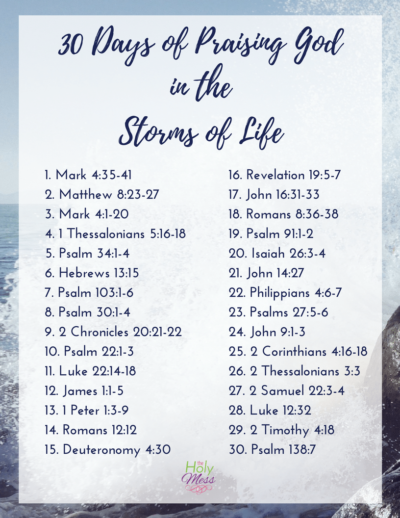 Praising God in the Storms of Life Bible Reading Plan