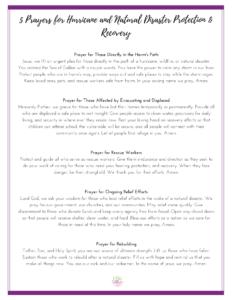 5 Prayers for Hurricane Victims
