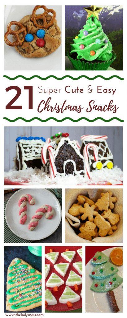 21 Super Cute and Easy Christmas Snacks #christmas #ChristmasHoliday #holidayfood