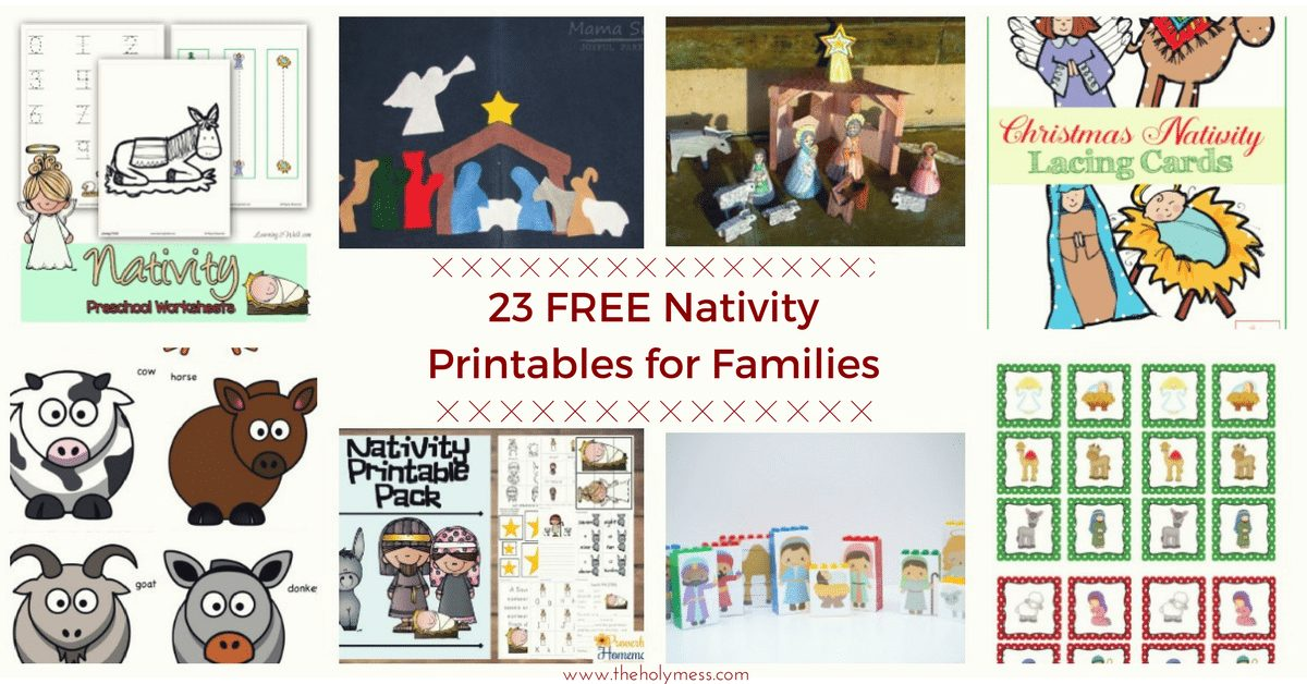 23 Free Nativity Printables for Families