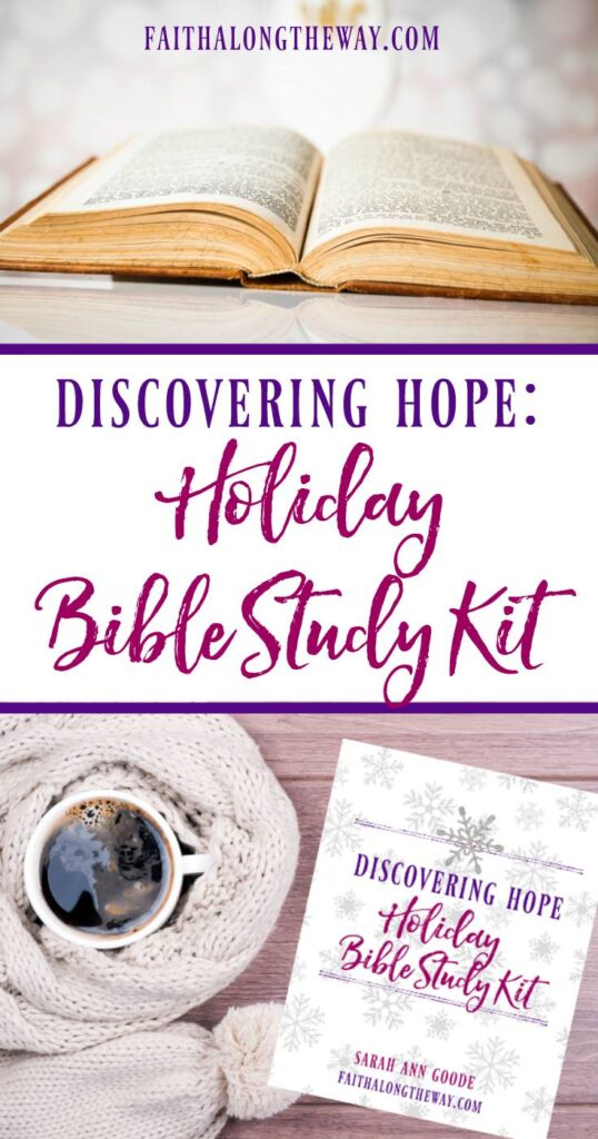 Discovering Hope Holiday Bible Study Toolkit #christmas #holidays #biblestudy #faith