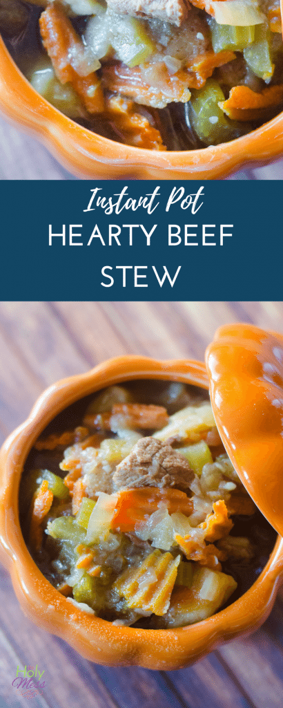 Instant Pot Hearty Beef Stew #instantpot #instapot #beefrecipe