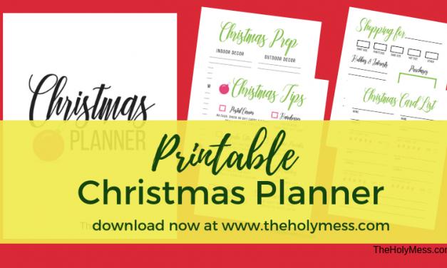The Holy Mess Printable Christmas Planner