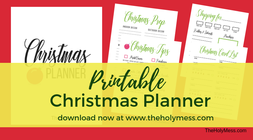 The Holy Mess Printable Christmas Planner