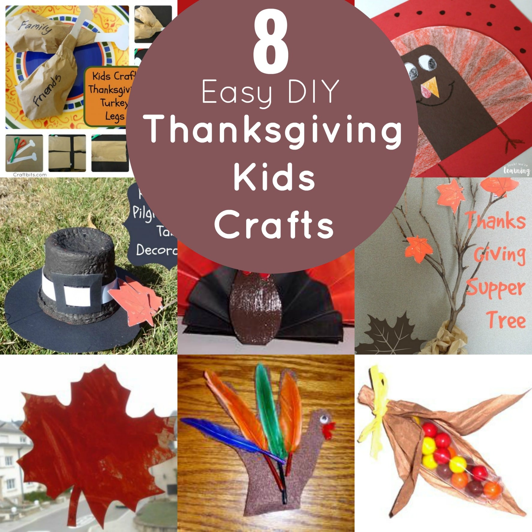 8 Easy DIY Thanksgiving Crafts for Kids