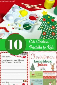 10 Cute Christmas Printables for Kids #Christmas #holiday #printable #kids