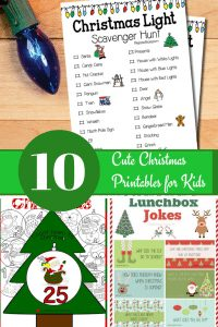 10 Cute Christmas Printables for Kids