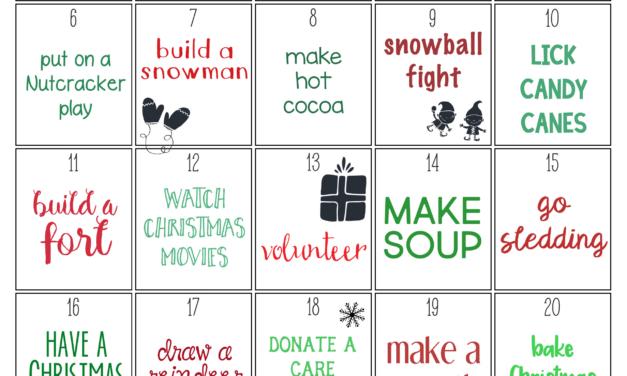 25 Days of Christmas Activities Printable Calendar