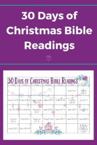 30 Day Bible Reading Plan for Christmas