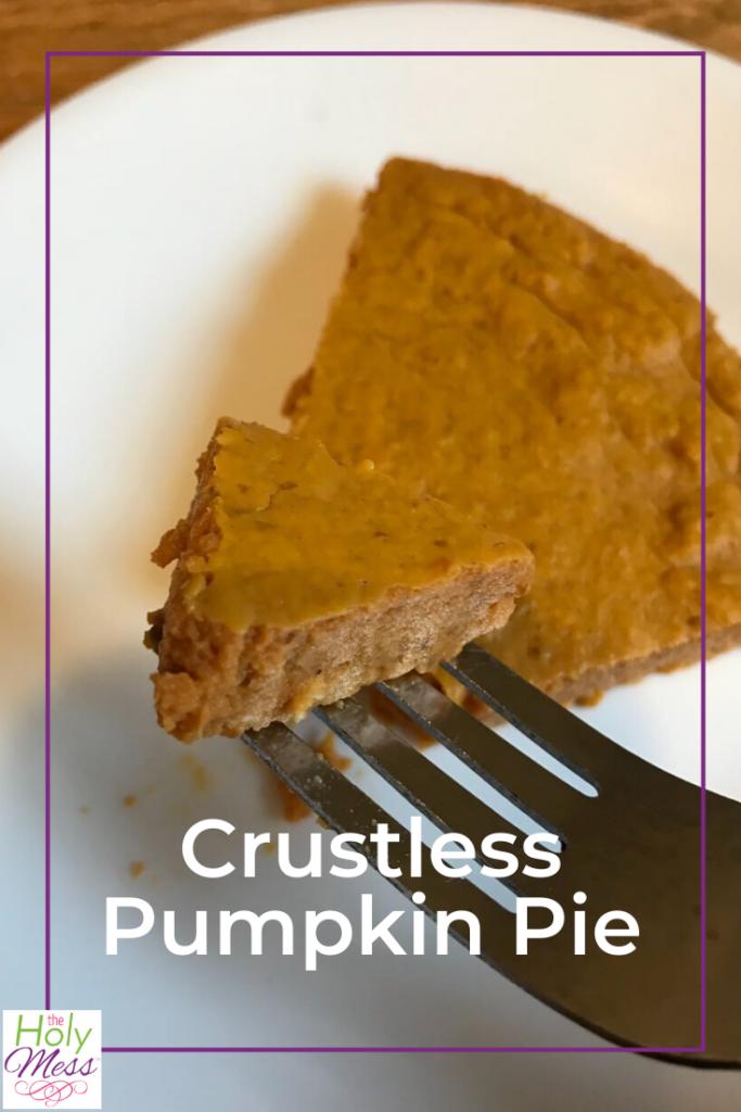 Crustless Pumpkin Pie, Healthy Pumpkin Pie