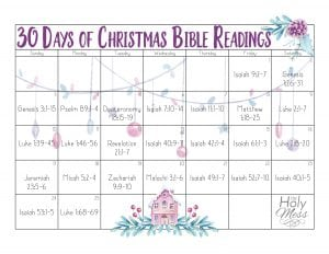 30 Days of Christmas Bible Readings for Advent