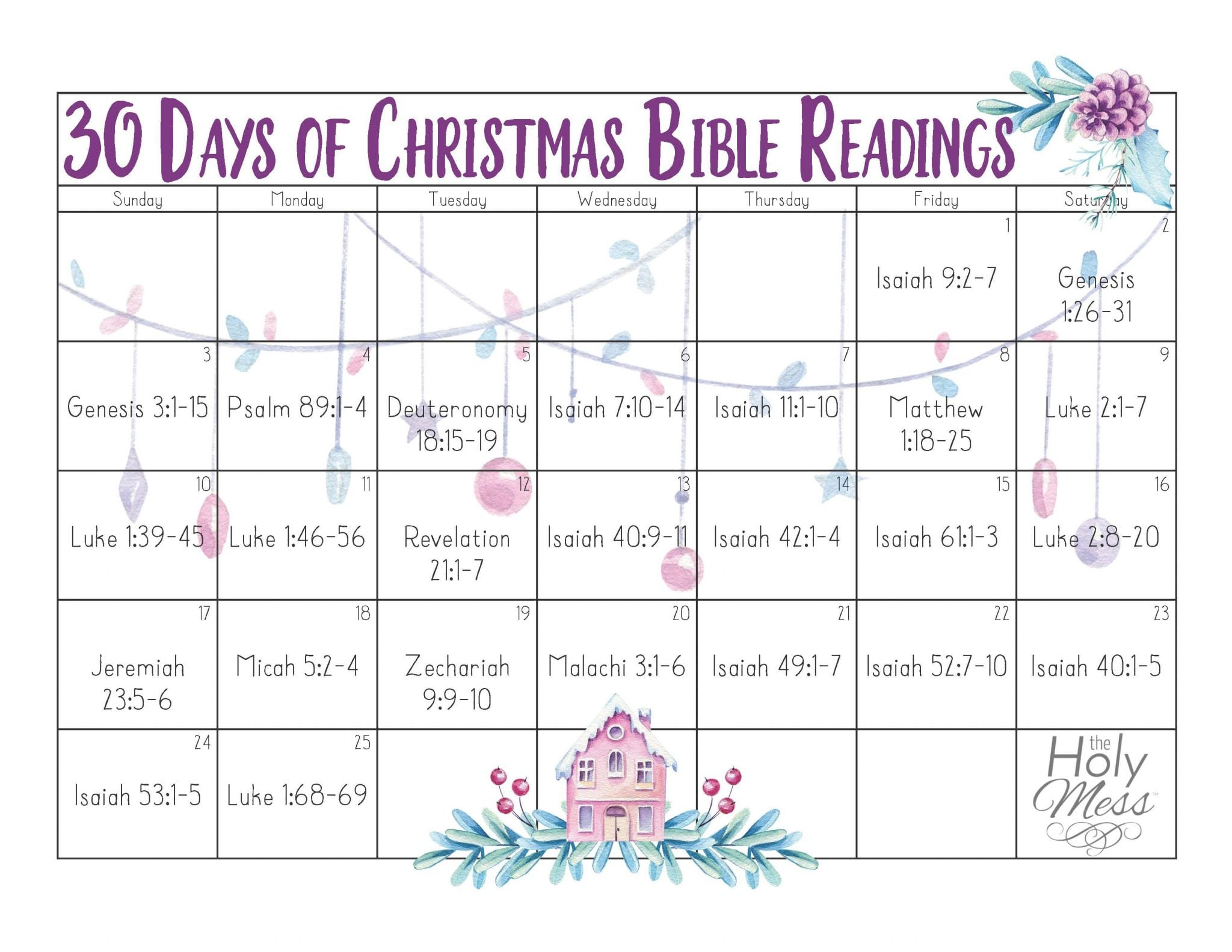30 Days of Christmas Bible Readings