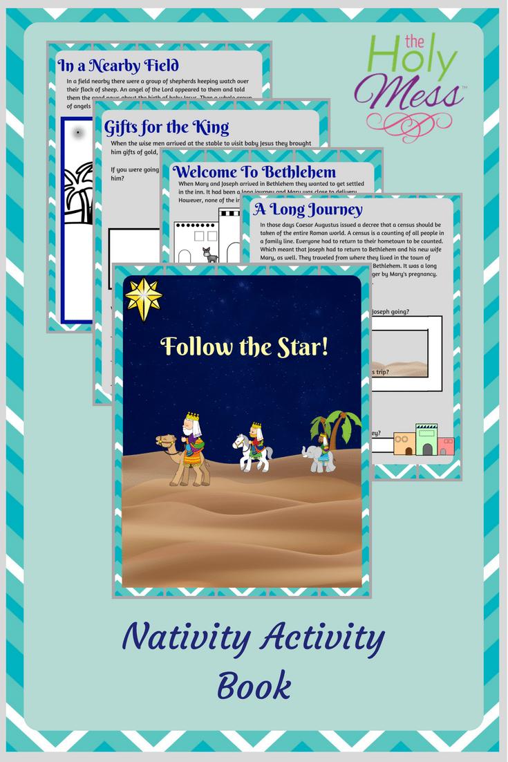 Printable Nativity Activity Book for Kids #christmas #printable #children