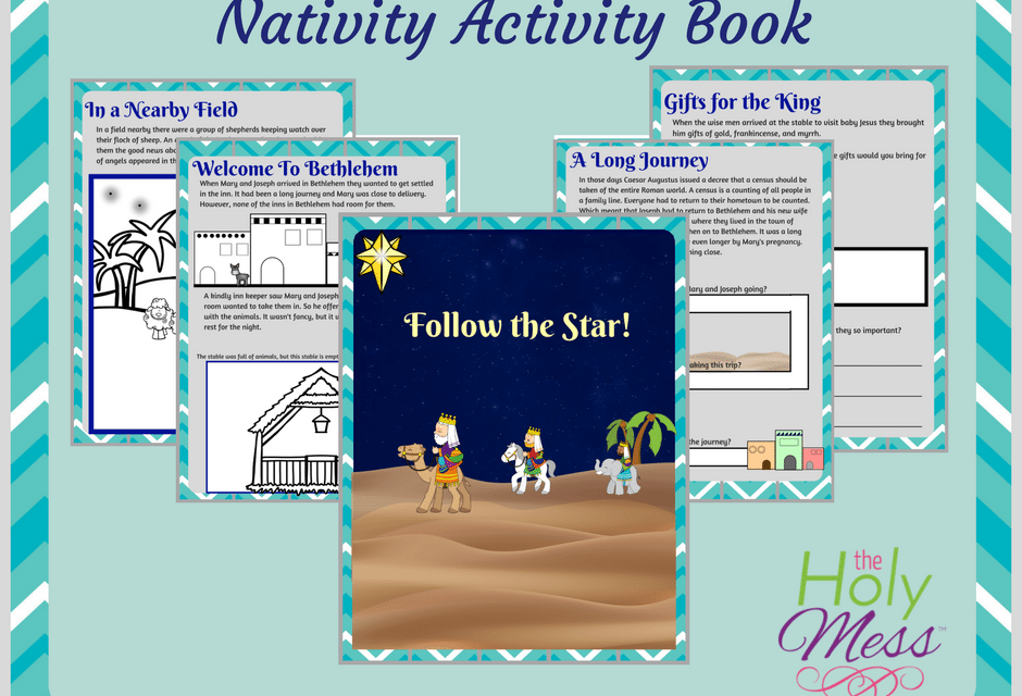 Printable Nativity Activity Book for Kids