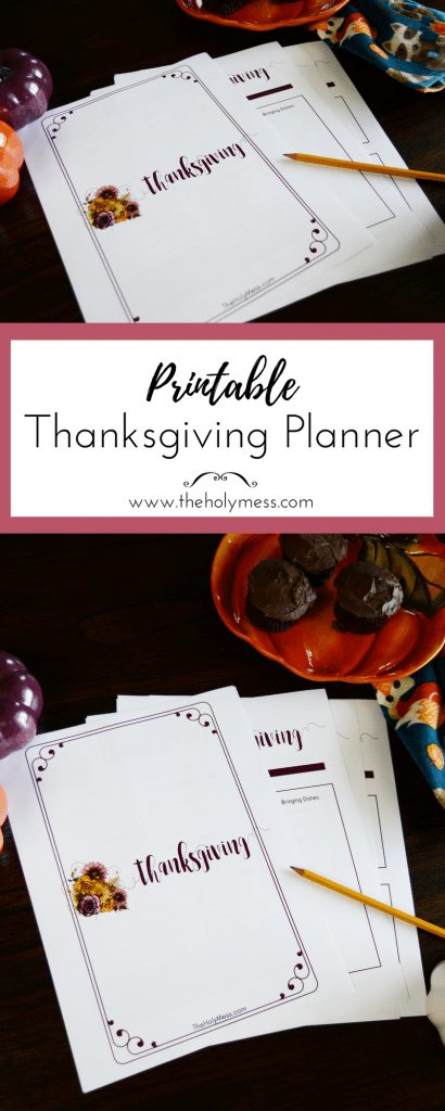 Printable #Thanksgiving #Planner