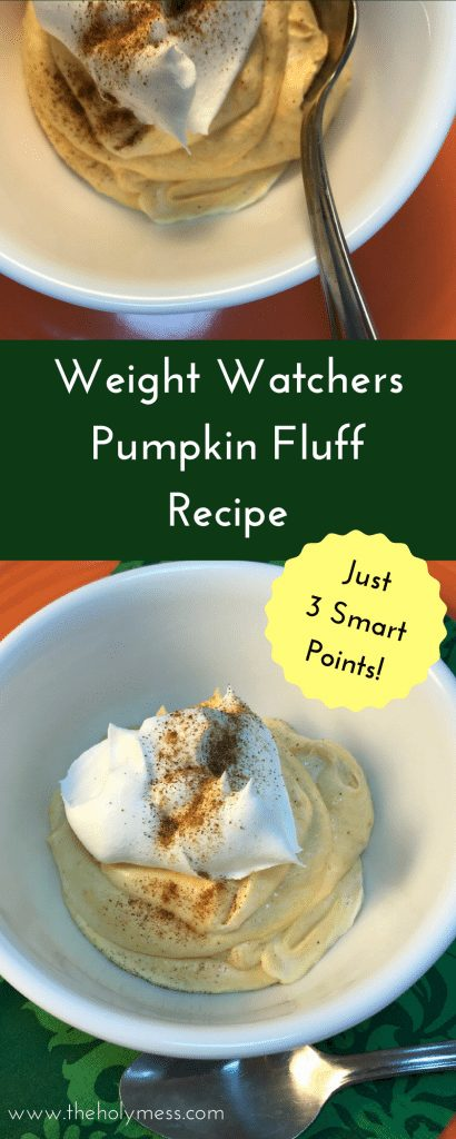 Weight Watchers Pumpkin Fluff Recipe #weightwatchers #recipe #foodie