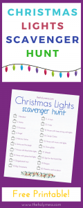 Christmas Lights Scavenger Hunt