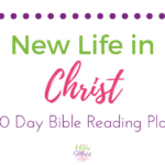New Life in Christ 30 Day Bible Reading Plan