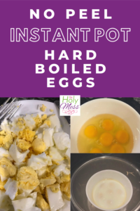 Instant pot eggs, Instant Pot No Peel Hard Boiled Eggs