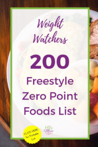 Weight Watchers 200 Zero Point Foods Weight Watchers