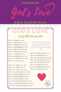 God is Love Bible Reading Plan