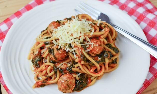 Instant Pot Sausage and Spinach Spaghetti Recipe