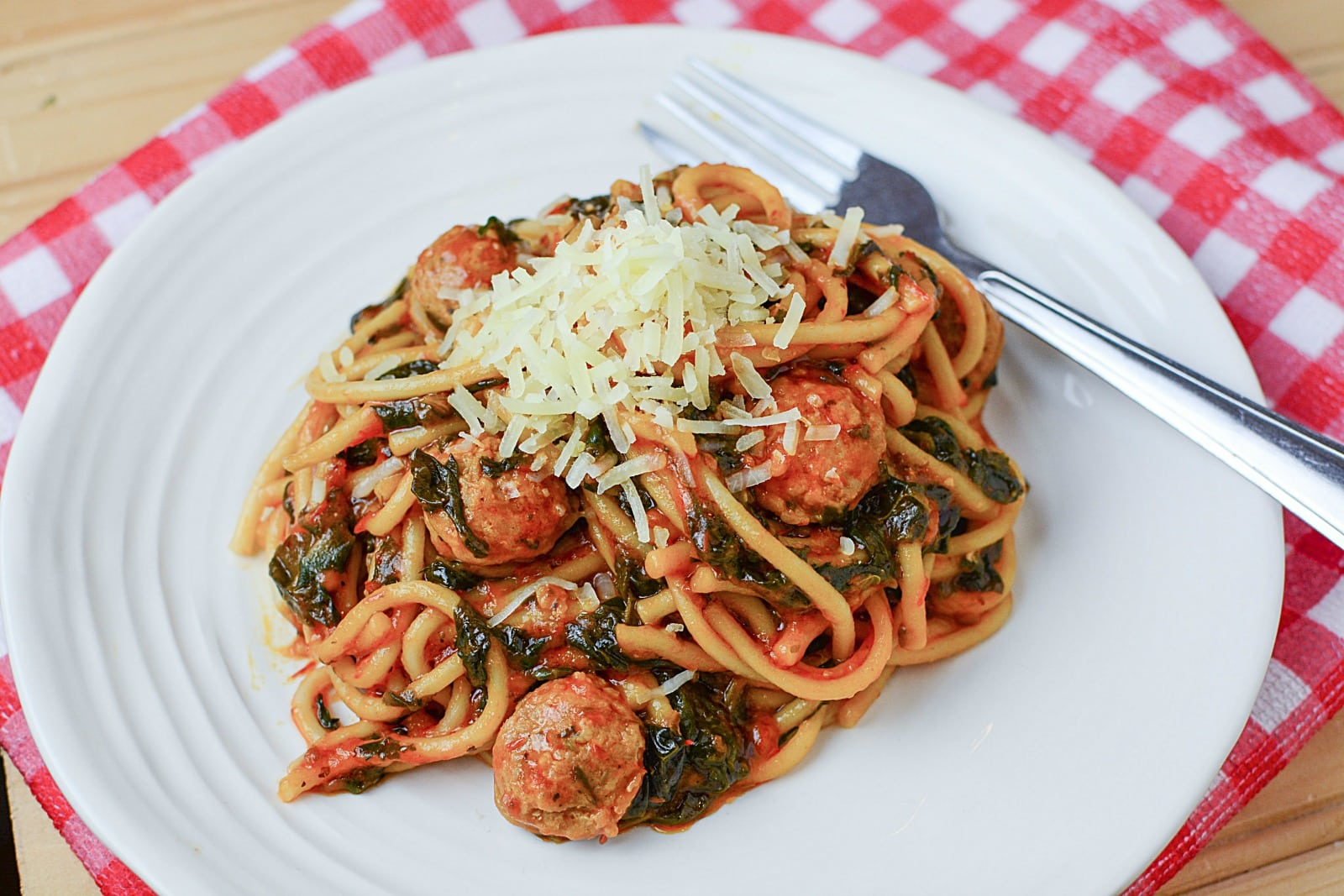 Instant Pot Sausage and Spinach Spaghetti Recipe