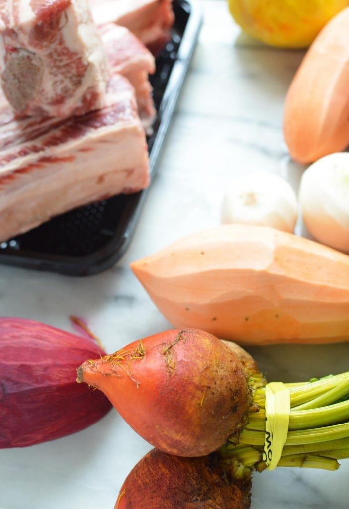 Instant Pot Short Ribs with Vegetables, ingredients for short rib recipe