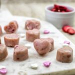 Paleo Strawberry Heart Fudge