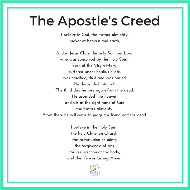 Is important why creed the apostles 7 Reasons