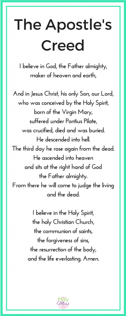 Why Do We Say the Apostle's Creed?