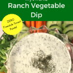 Weight Watchers Ranch Vegetable Dip Recipe #diet #fitness #recipe #healthy